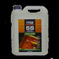 Строительная биозащита для древесины Tytan 5S, зеленый 5 л