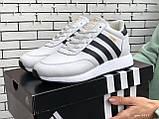 Подростковые зимние кроссовки Adidas Iniki ботинки на меху белые зимние в стиле Адидас, фото 2