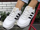 Подростковые зимние кроссовки Adidas Iniki ботинки на меху белые зимние в стиле Адидас, фото 3