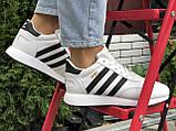 Подростковые зимние кроссовки Adidas Iniki ботинки на меху белые зимние в стиле Адидас, фото 4