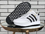 Подростковые зимние кроссовки Adidas Iniki ботинки на меху белые зимние в стиле Адидас, фото 6