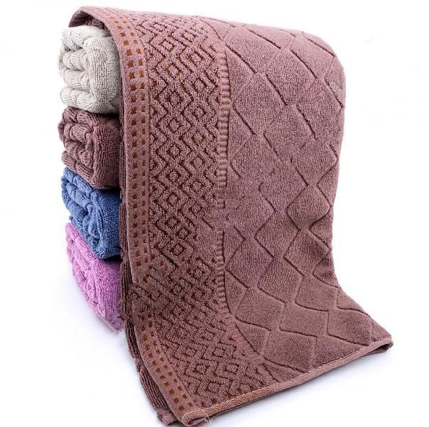 Лицевые махровые полотенца «Ромбик Boves» (4 шт)