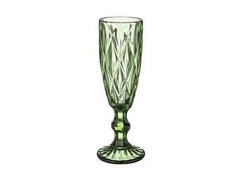 Бокал для шампанского Изумруд зеленый 150мл