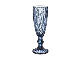 Бокал для шампанского Изумруд синий 150мл