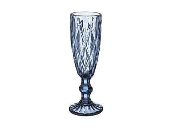 Келих для шампанського Смарагд синій 150мл