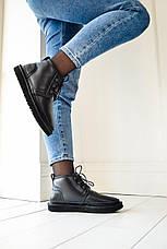 Женские ботинки UGG Neumel Metallic Black (женские Угг Неумел металлик черные) 3236, фото 2