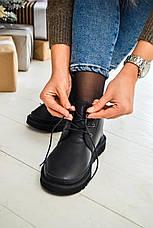 Женские ботинки UGG Neumel Metallic Black (женские Угг Неумел металлик черные) 3236, фото 3