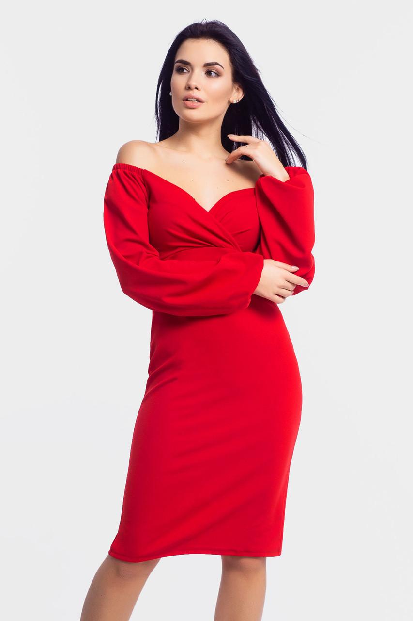 Нарядное женское платье Patrisia, красный