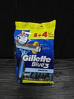 Gillette Blue 3 (12) одноразовые мужские станки для бритья