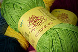 Пряжа хлопковая Vivchari Cottonel 800, Color No.4011 морская волна, фото 5