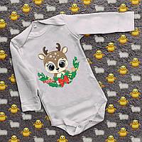 Детские бодики с принтом - Маленький олененок