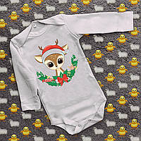 Детские бодики с принтом - Маленький олененок - 2