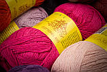 Пряжа хлопковая Vivchari Cottonel 800, Color No.4015 малиновый, фото 6