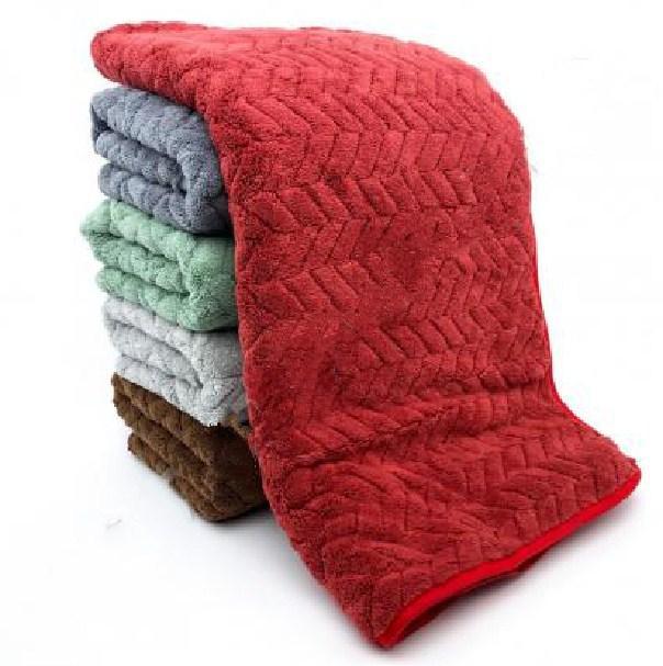 фотография банные полотенца микрофибра в расцветках