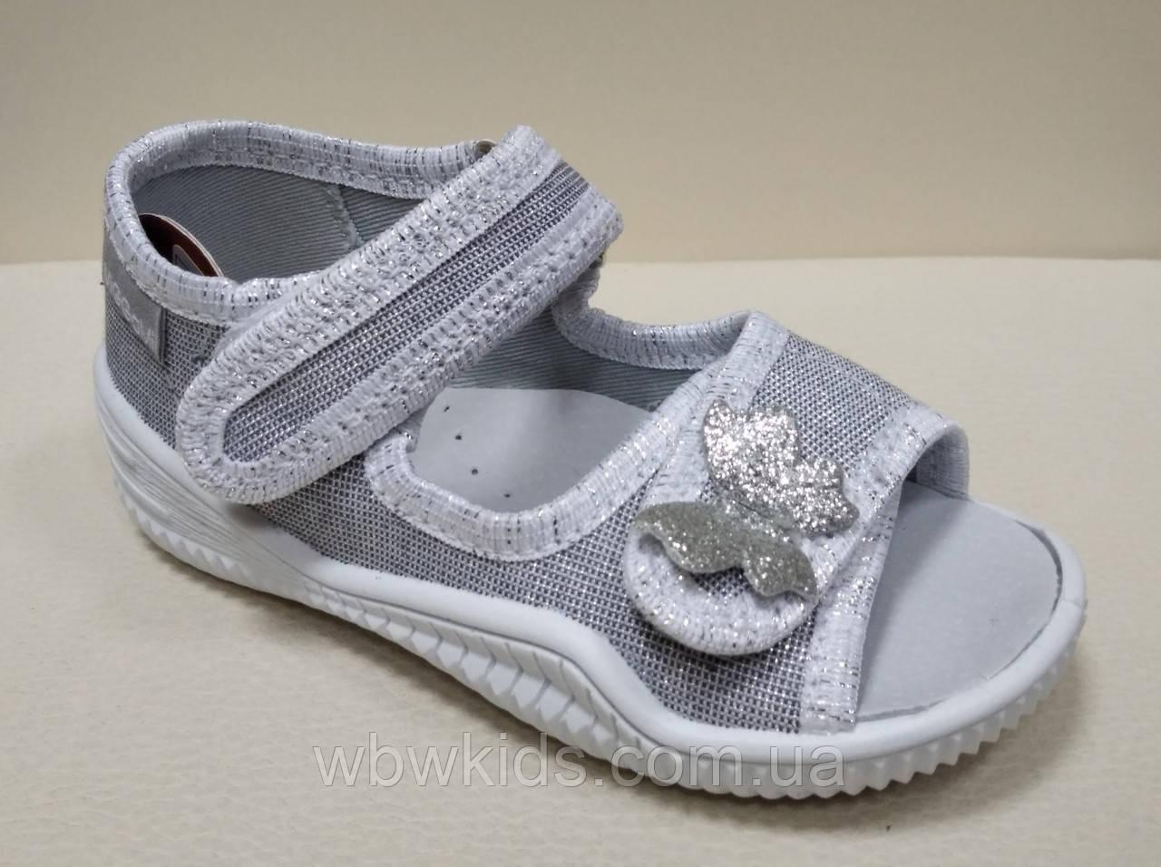 Тапочки Viggami Ania lux silver срібні для дівчаток