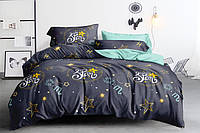 Полуторный комплект постельного белья 150*220 сатин_хлопок 100% (15978), фото 1
