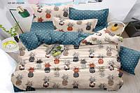 Полуторный комплект постельного белья 150*220 сатин_хлопок 100% (15982), фото 1
