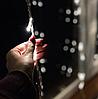 Гірлянда штора лампи Едісона 200LED 10 кульок по 8 см ширина 3м Теплий білий   Ретро гірлянда RD-9014, фото 3