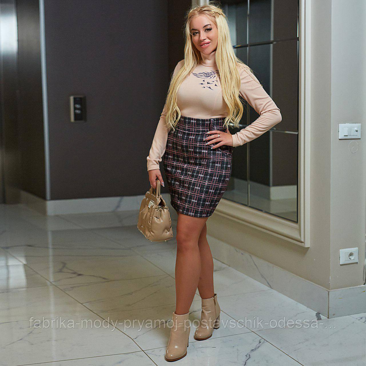Женская юбка  короткая  мод.729 Анна Оди размер 42-64