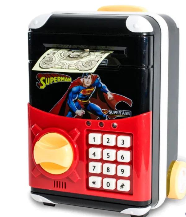Детская копилка электронная сейф купюроприемник с замком кодовым