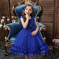 Детское нарядное платье с блестками 100-130 рост