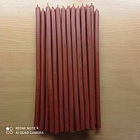 Свеча восковая цвета вишни столовая, фото 1