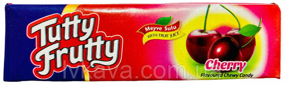 Жевательные конфеты Tutti Frutti  вишня , 25 гр, фото 2