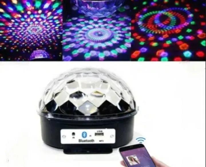 Музыкальный диско-шар с Bluetooth и пульт Свето музыка светомузыкой
