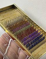 Ресницы Nagaraku омбре 4 цвета в палетке
