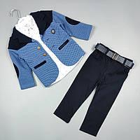 Костюм дитячий трійка святковий оптом для хлопчика 1-4 роки Туреччина 2119, фото 1