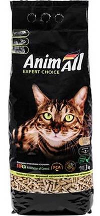 Наполнитель для туалета Энимолл | AnimAll наполнитель древесный 3 кг, фото 2