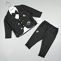 Комплект чорний дитячий трійка оптом для хлопчика 6-18 місяців Туреччина 1597, фото 1