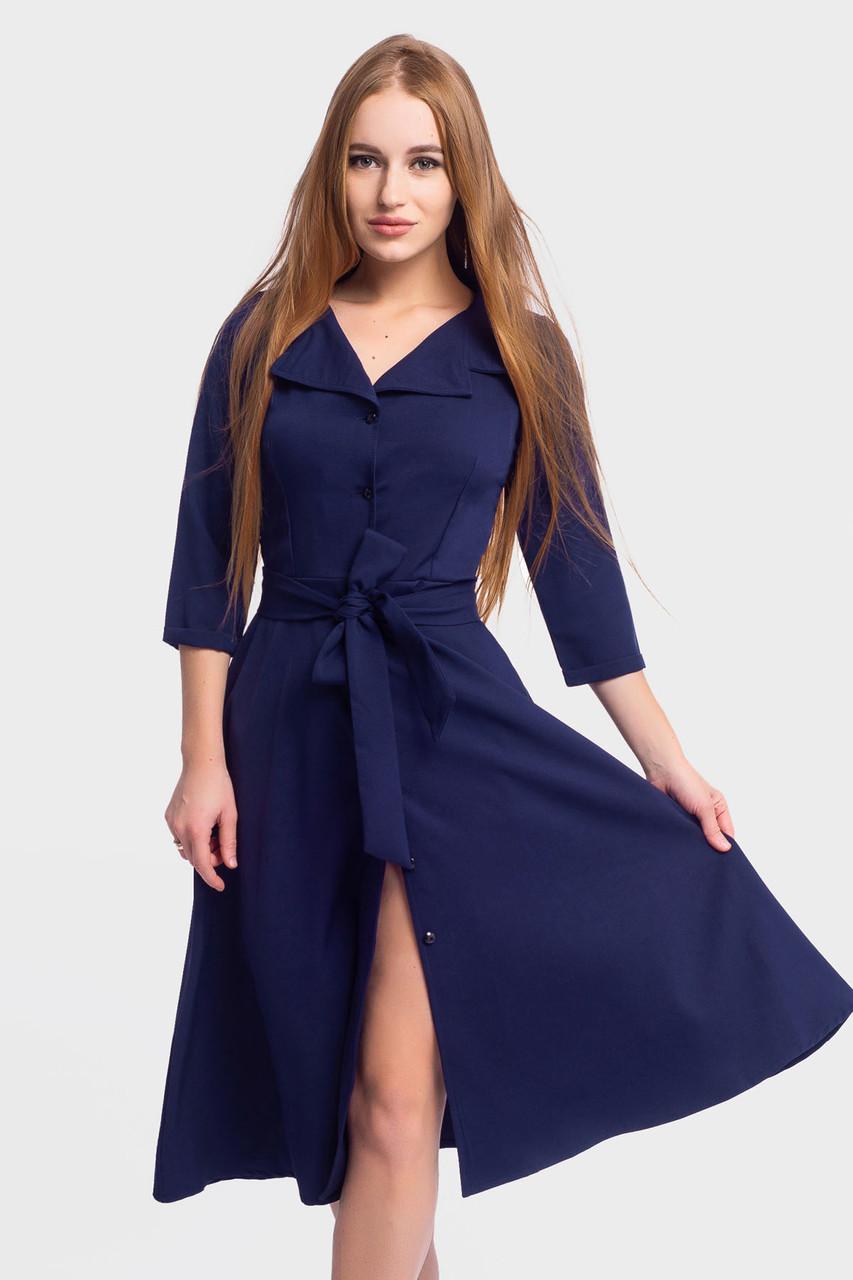 S, M, L | Класичне жіноче плаття Kair, темно-синій