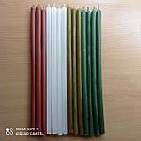 Свеча восковая зеленая 34 см, фото 2