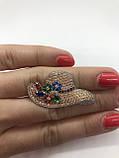 Серебрянное брошь Боннет от Ирида-В, фото 3