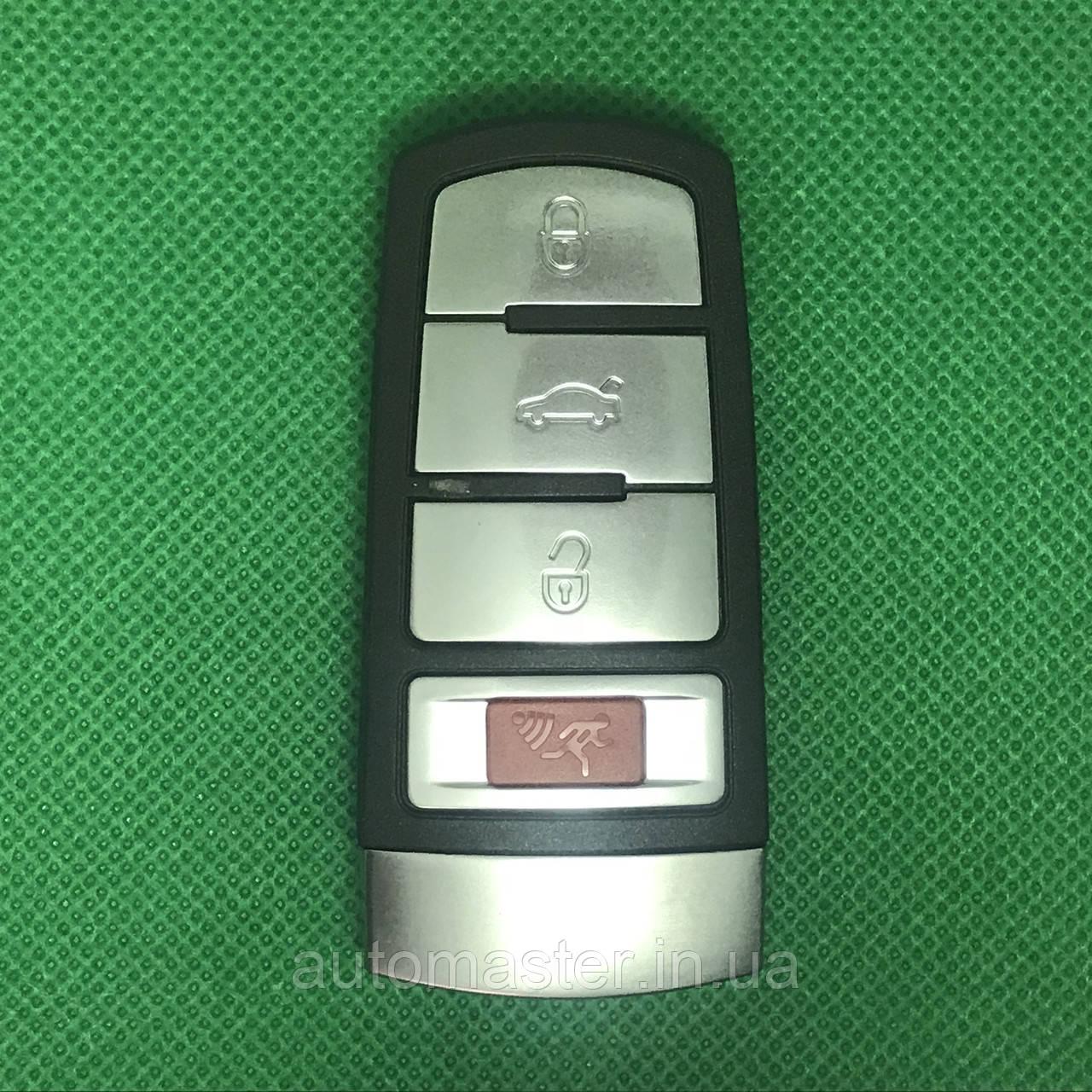 Автомобильный смарт ключ  Фольксваген Volkswagen Passat CC америка 3 кнопки с частотой 315 MHz ID48