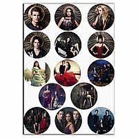 Капкейки-6 см Щоденник вампірів вафельна картинка