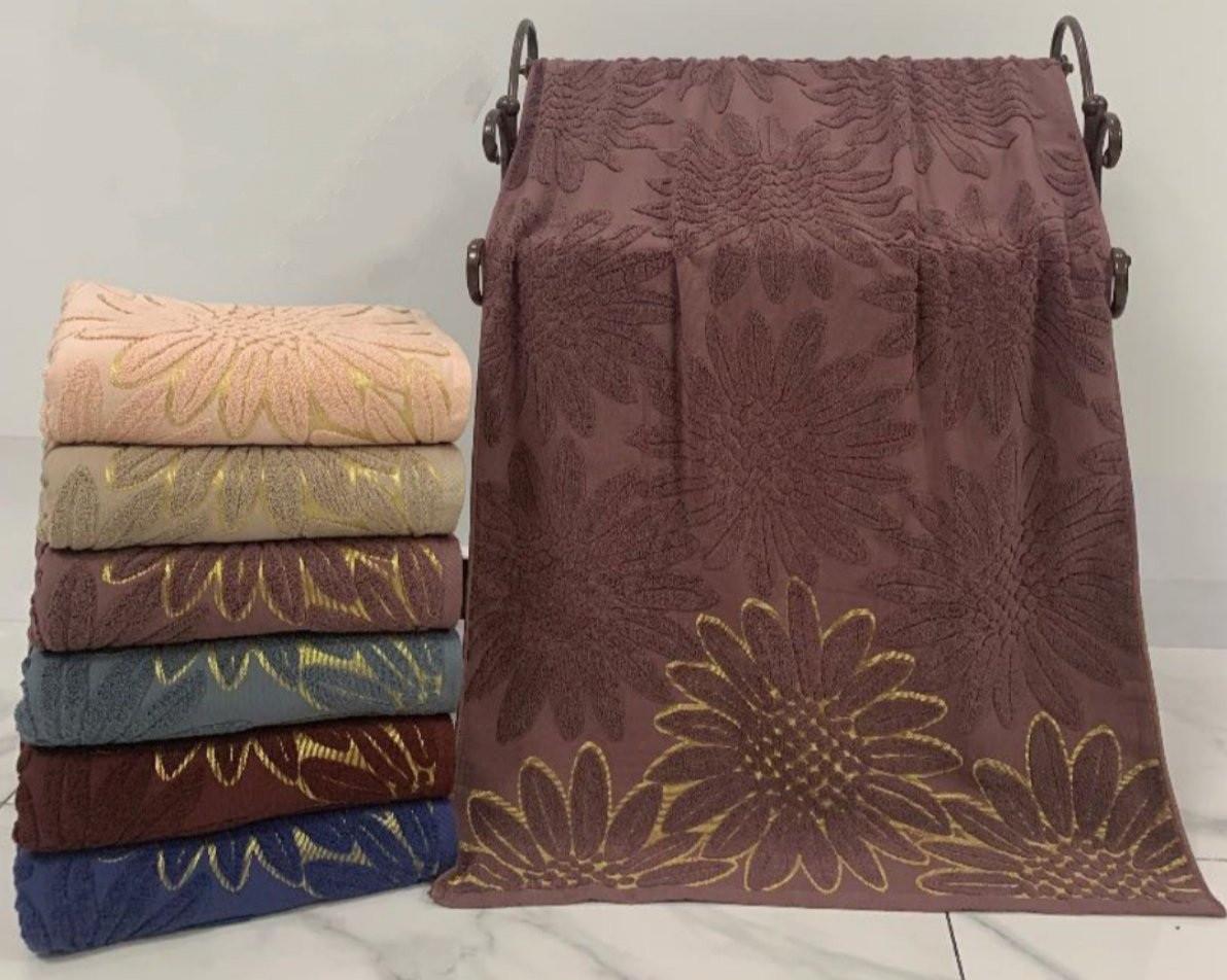 Лицевые махровые полотенца «Подсолнухи Vip Bayun» (6 шт)