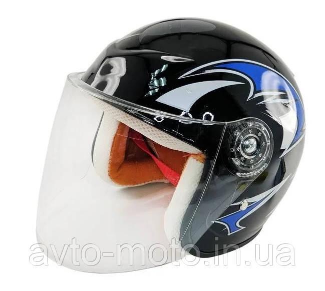 Шлем детский открытый SHUNDA чёрный