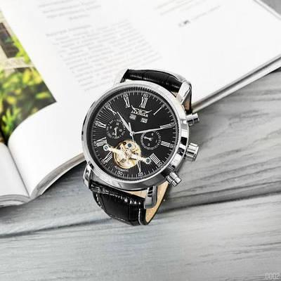 Классические наручные часы Jaragar 540 Black-Silver-Black ТОП месяца мужские