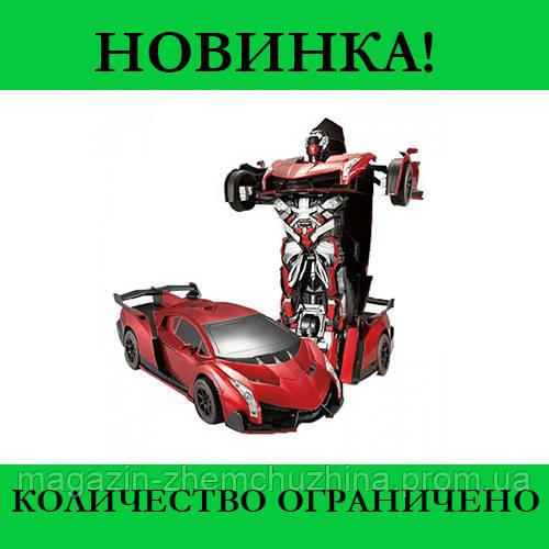 Sale! Машинка Трансформер на Радиоуправлении Lamborghini Robot Car Size 18 Красная
