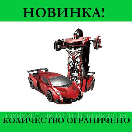 Sale! Машинка Трансформер на Радиоуправлении Lamborghini Robot Car Size 18 Красная, фото 2