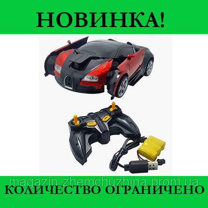 Sale! Машинка Трансформер Bugatti Robot Car Size 18 Красная, фото 2