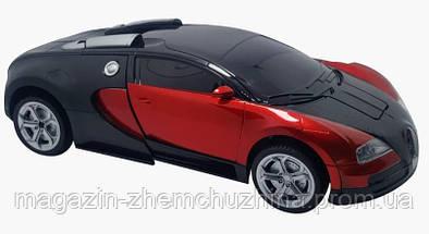 Sale! Машинка Трансформер Bugatti Robot Car Size 18 Красная, фото 3