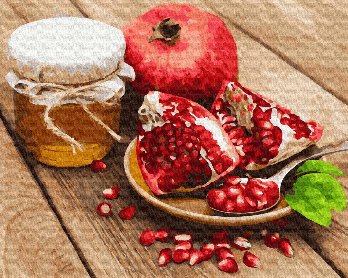Картина по номерам Brushme Красный гранат с медом