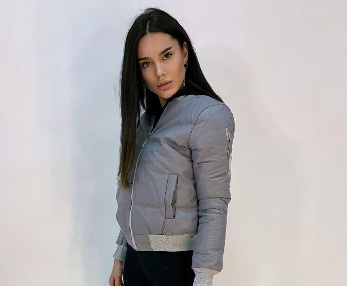 Куртка женская на молнии  С, М, Л  СЕРЫЙ