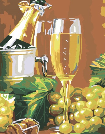 Картина по номерам Brushme Виноград с шампанским