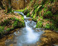 Картина по номерам Brushme Водопад среди гор