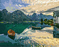 Картина по номерам Brushme Вид на озеро Комо