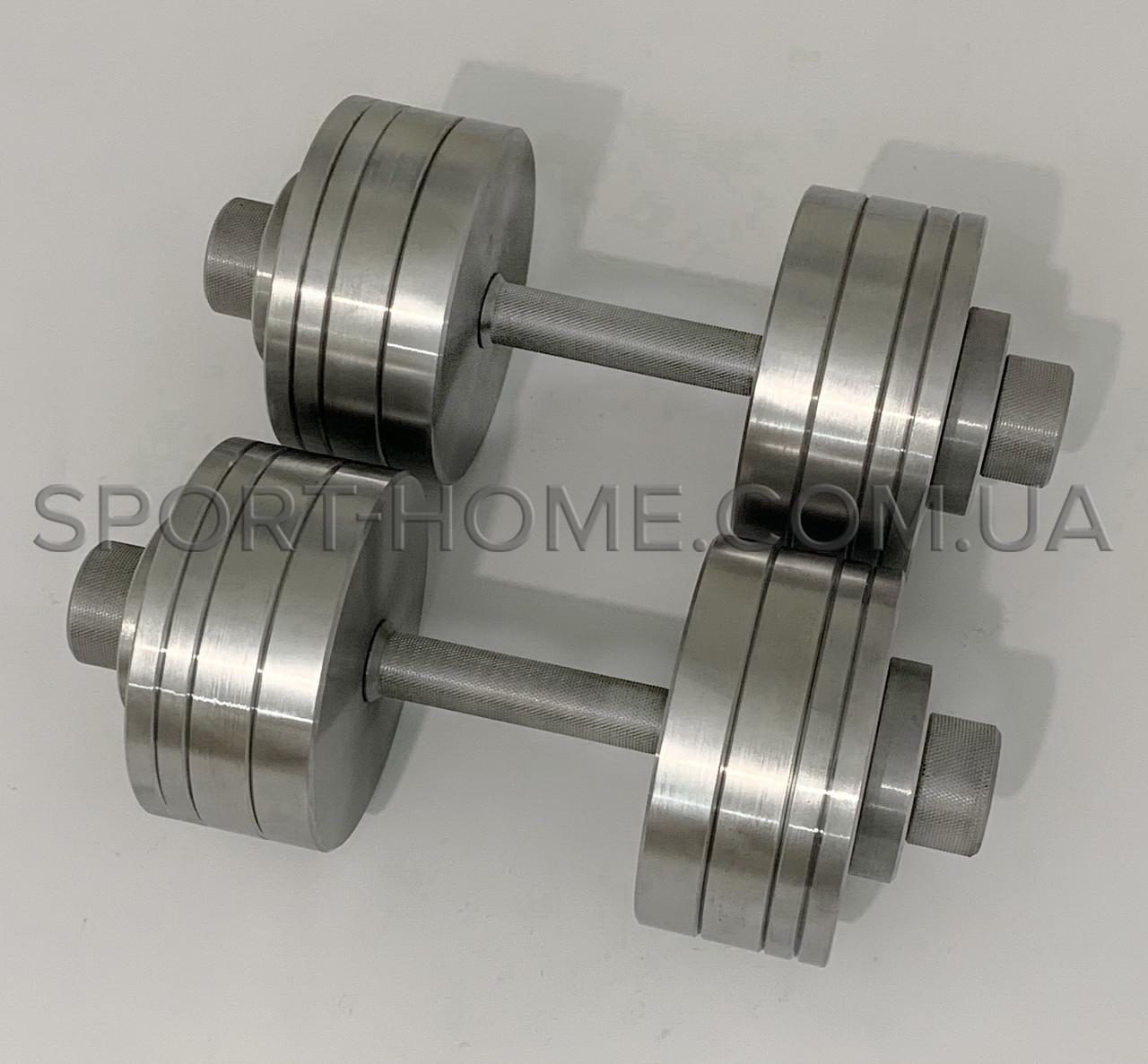 Гантели наборные 2 по 35 кг (30 мм). Разборные металлические. Сталеві гантелі 70 кг